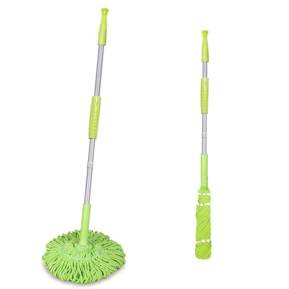 TANGON Microfiber Twist Mop, Professional Hand Free Self-Wringing Ratchet Twist Mop MicroTwist Floor Mop (Green)