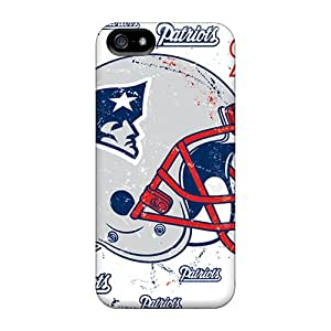 Ultra Slim Fit Hard Acsdcover Cases Covers Specially Made For Iphone 5/5s- New England Patriots