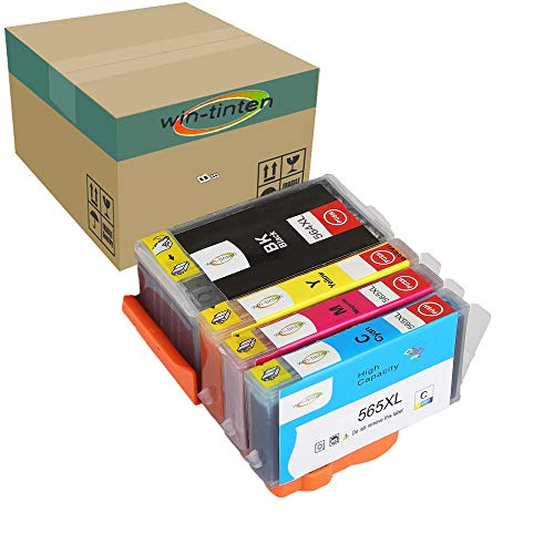 Win-TinTen 4 Pack Replacement for HP 564XL 564 XL Compatible Ink Cartridge  for HP 564XL 564 XL to use with DeskJet 3520 3522 Officejet 4620 Photosmart