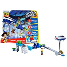 Mattel Year 2010 Disney Pixar Movie Series Toy Story 2 Inch Tall Action Figure Playset - AIRPORT ADVENTURE with 3