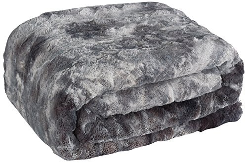 Price comparison product image Brielle Nesting X-Large Reversible Faux Fur Throw, King, Starling, Gray