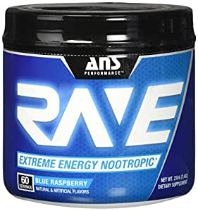 ANS Performance RAVE Extreme Energy Nootropic Blue Raspberry 60/SERV