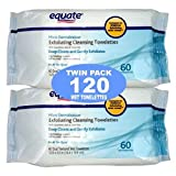 equate makeup remover wipes - Equate Exfoliating Wet Cleansing Towelettes with Cucumber, Aloe and Green Tea - 120 Wet Towelettes
