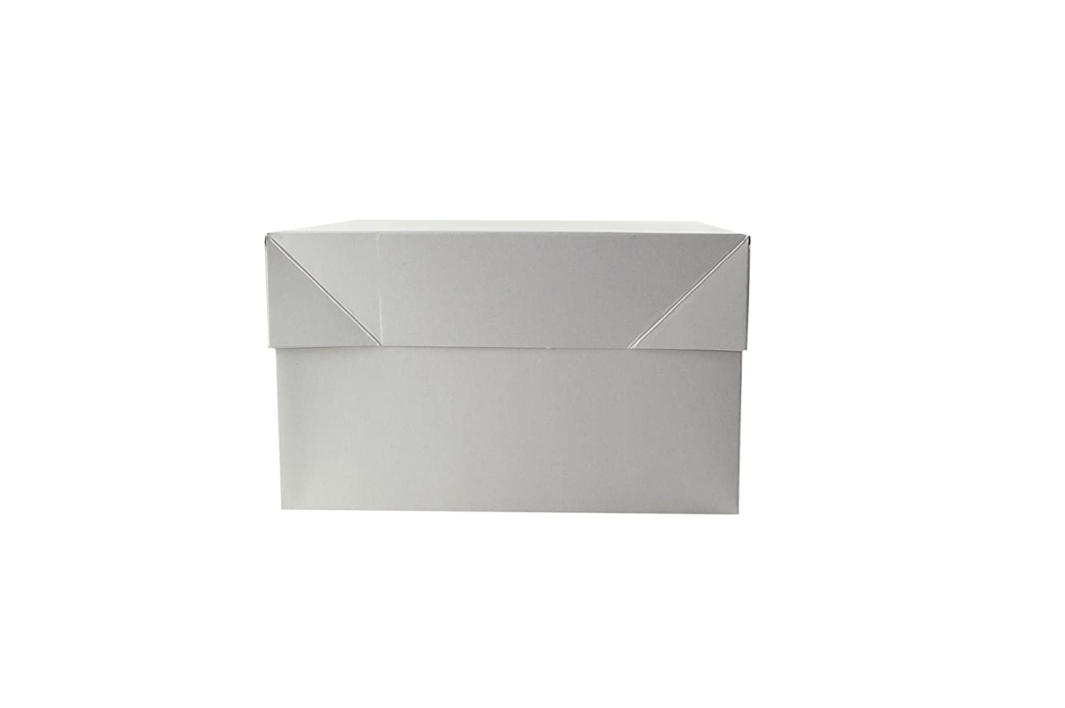 """Standard White Cake Box 13"""" x 13"""" x 6"""" and 13"""" Round Board Its Just A Box"""