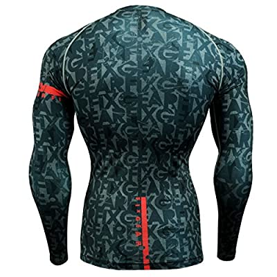 Fixgear Mens Womens MMA Running Base Layer Compression Shirt Long Sleeve S~4xl