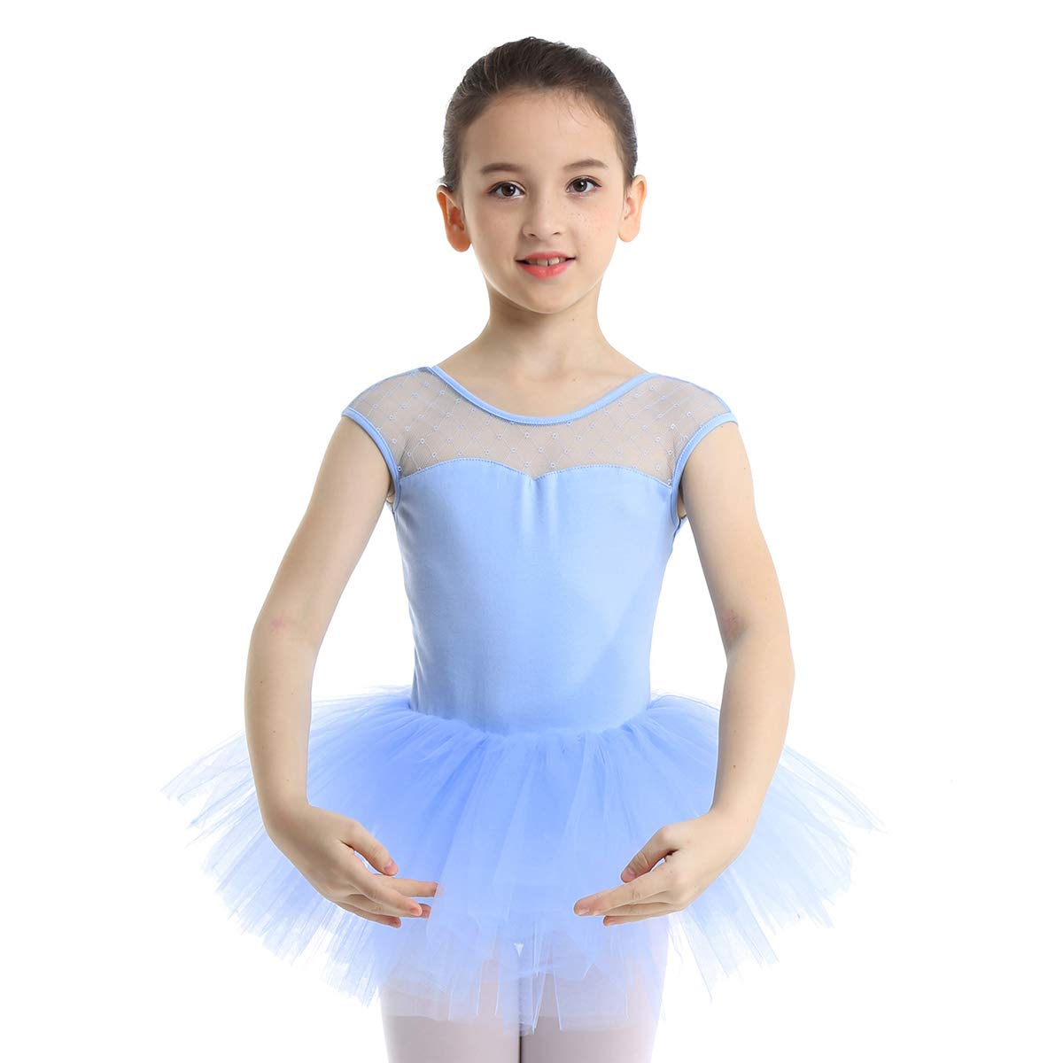 MSemis Kid Girls Ballet Tutu Dress Dancewear Gymnastics Tank Top Leotard Stage Performance Lyrical Dance Costume
