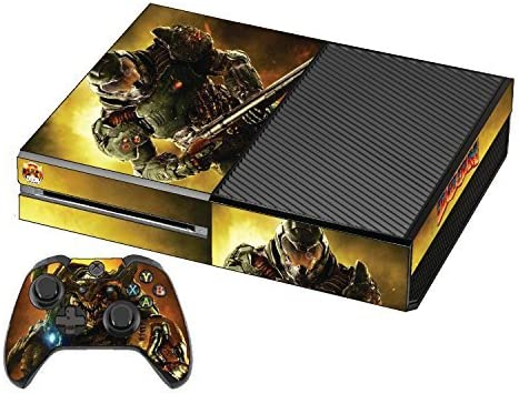 Xbox One Doom Skin Premium Designer + 2 Free Xbox One Controller ...