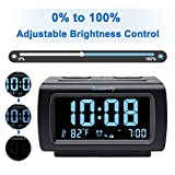 DreamSky Alarm Clock Radio FM with USB Port for