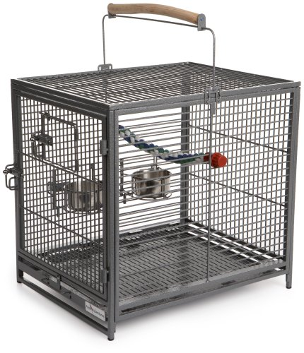 MidWest Avian Adventures Poquito Avian Hotel, Platinum (Stainless Adventures Avian Cage Steel)