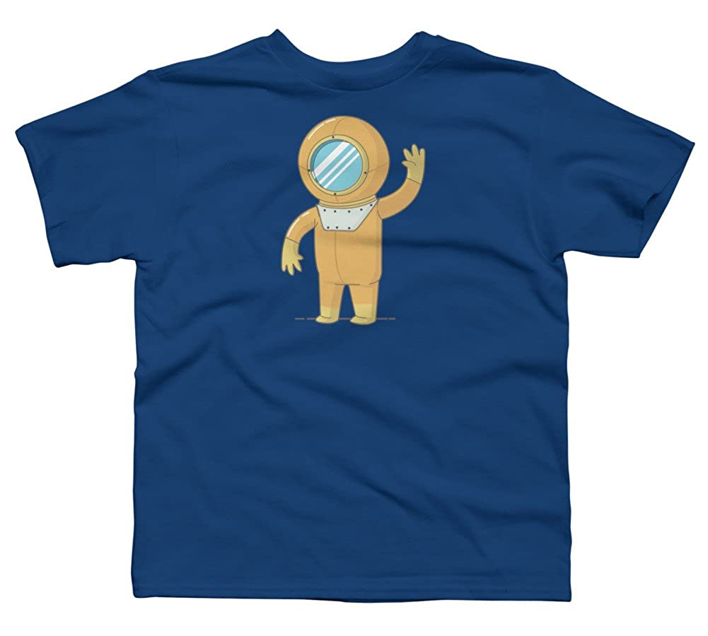diver Boys Youth Graphic T Shirt Design By Humans