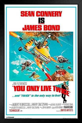 James Bond You Only Live Twice Framed Poster 11x17