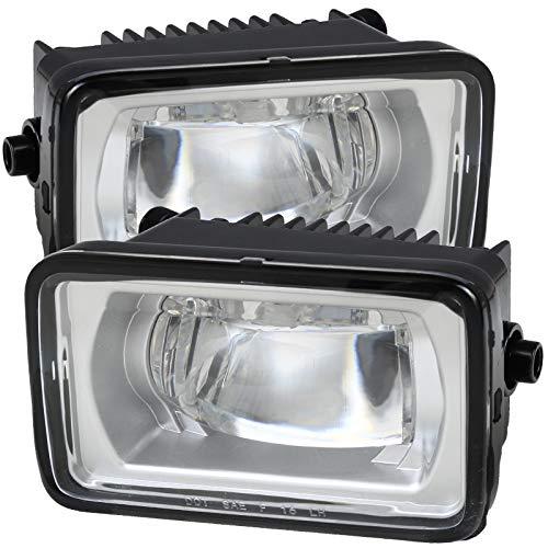 Carpartsinnovate For 15-17 F150 17-18 F250 F350 SuperDuty LED Clear Projector Fog Lights Bumper Lamps