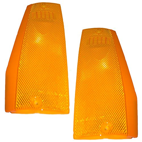 Driver and Passenger Signal Side Marker Lights Lamps Replacement for Jeep SUV Pickup Truck 56000111 56000110 ()