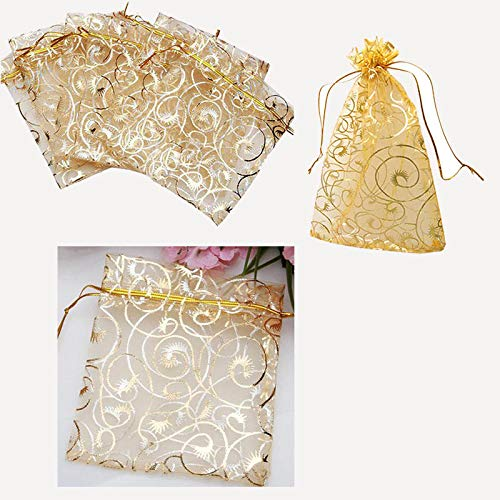 Bags Wrapping Supplies - 100pcs Cute Eyelash Pattern Drawstring Organza Wedding Favor Gift Bags Candy Jewelry Pouches Food - Classic Long Sequin Bag Pack Bag Chain Bags Pouch Crystal Bag Hand
