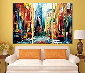 abstract Wooden Tableau, 180x150 Cm - Set Of 3 pieces