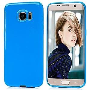 Samsung Galaxy S7Edge Funda, BADALink color puro suave TPU con [Ultra delgado] [anti-scratch] [ajuste perfecto] [Fancy colorido patrón] [estilo sencillo] [fácil instalar y quitar] Cubierta Protectora Skin-