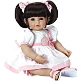 "Adora Toddler Doll Let`s Celebrate, Baby 20"" Girl Weighted Doll Gift Set for Children 6 Huggable Vinyl Cuddly Snuggle Soft Body Toy"