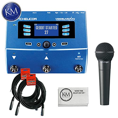 - TC-Helicon VoiceLive Play + (2) XLR Cables + Behringer XM8500 Microphone + K&M Cloth
