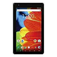 2017 Newest Premium RCA Voyager 7-inch Touchscreen Tablet PC 1.2Ghz Quad-Core Processor 1G Memory 16GB Hard Drive Webcam Wifi Bluetooth Android 6.0 Marshmallow OS Black