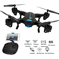 Kanzd Mini A6 Foldable With Wifi FPV HD Camera 2.4G 6-Axis RC Quadcopter Drone Toys