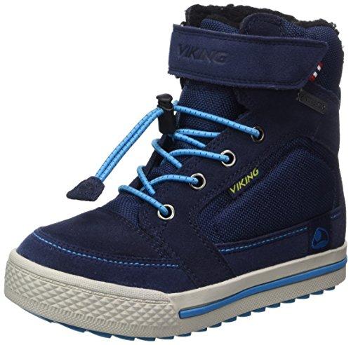 Viking Unisex-Kinder Zing Hohe Sneaker Blau (Navy/Light Blue)
