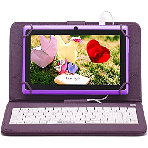 iRULU eXpro X1 7 Inch Quad Core Google Android Tablet PC, 1024x600 Resolution, Wi-Fi, Games, Dual Cameras, 8GB Nand Flash with keyboard Coupons
