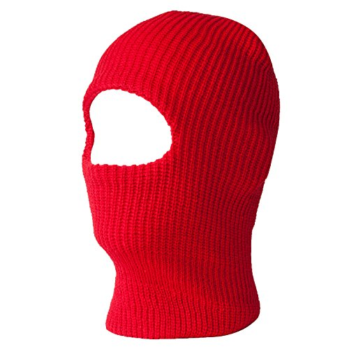 Red One Hole Ski Mask
