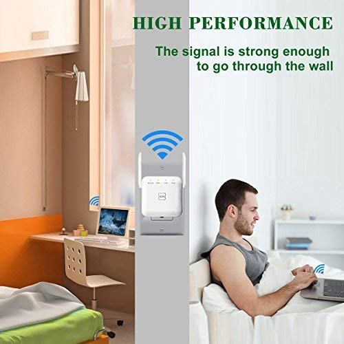 WiFi Range Extender 300Mbps,FiveHome 2.4G High Speed WiFi Booster for Home Repeater Extends WiFi to Smart Home & Alexa Devices, 2X2 MU-MIMO,Easy and Quick Set Up (ac300)