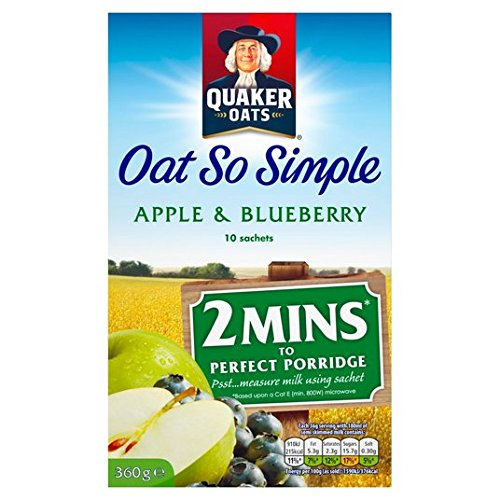 Avena Quaker tan simple manzana y arándano Gachas 10 x 36g: Amazon.es: Alimentación y bebidas