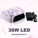 Perfect Summer 36W UV Led Lamp Nail Polish Dryer CCFL+SMT LED 100-220V Flower Pattern #01