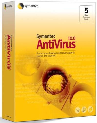 Symantec Antivirus 10 0 Business Pack   5 User