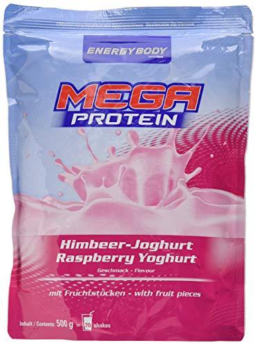 Energybody Mega Protein m. Fruchtstücken, Himbeer - Joghurt, 1er Pack (1 x 500 g Beutel)