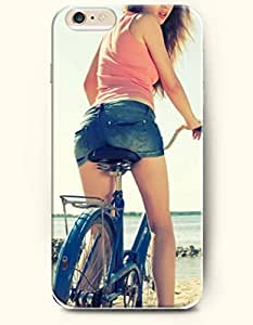OFFIT iPhone 6 Plus Case 5.5 Inches Sexy Girl Riding Bike by Maris's Diary