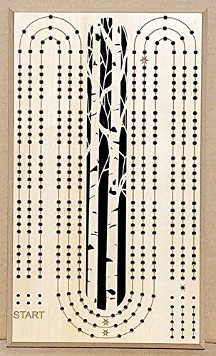 Aspen / Birch Tree Cribbageボード、Lペグ