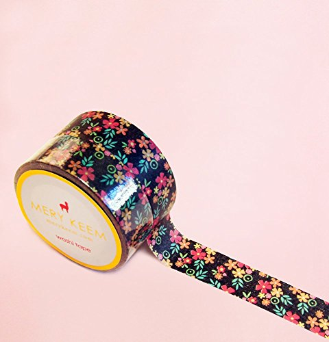 Night Garden Flowers Washi Tape for Planning • Scrapbooking • Arts Crafts • Office • Party Supplies • Gift Wrapping • Colorful Decorative • Masking Tapes • DIY from MERYKEEM