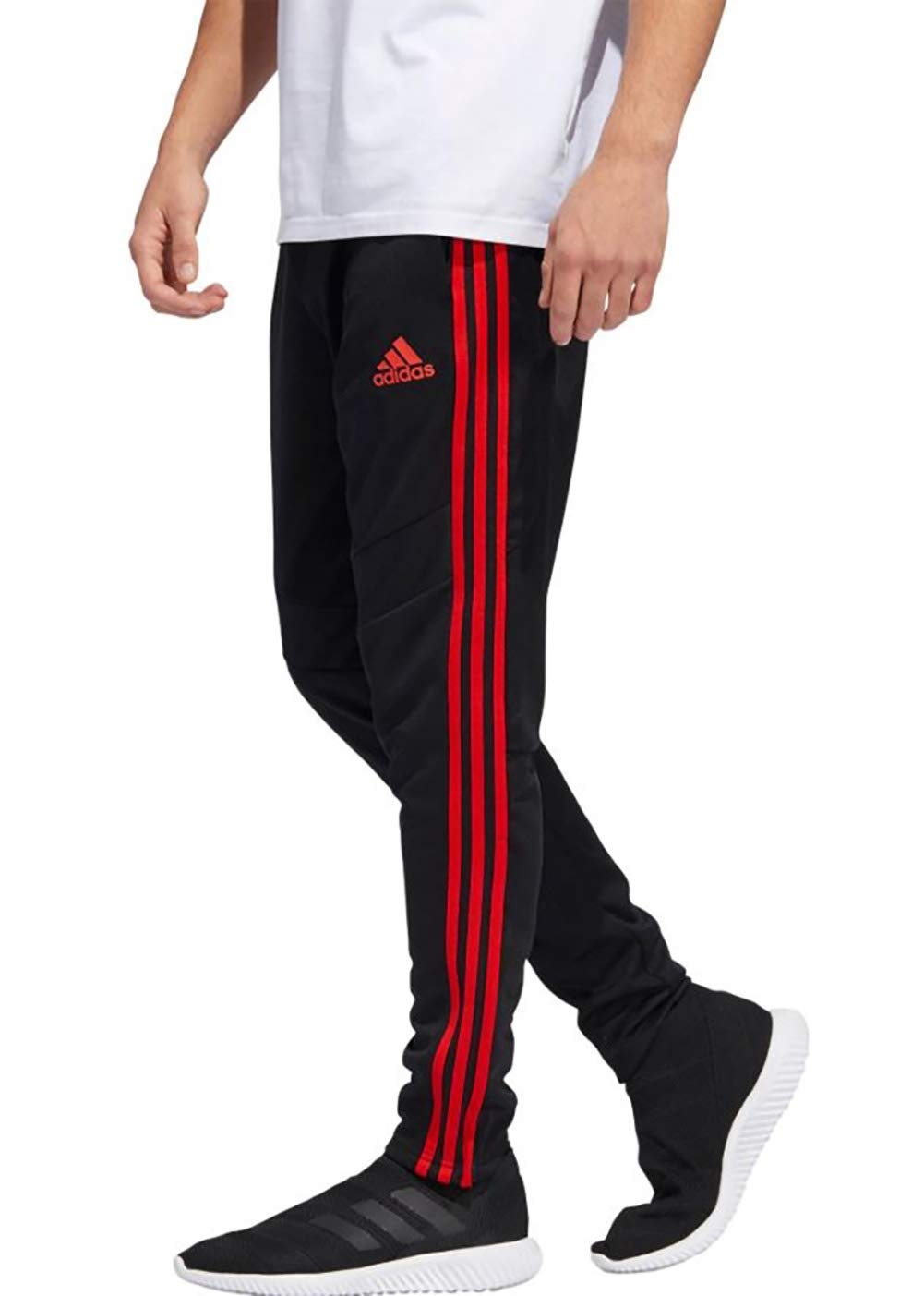 adidas Men's Tiro19 Training Pants, Black/Red, Medium by adidas