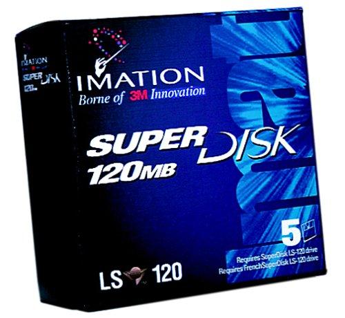Imation SuperDisk 120MB Windows//DOS//IBM formatted 5-Pack