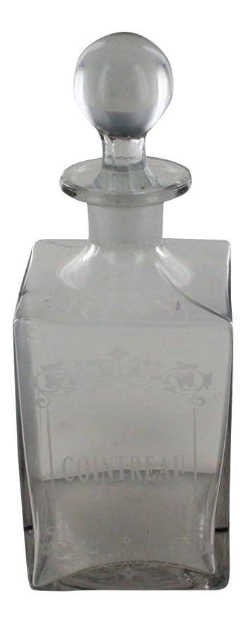 """Botella de licor de vidrio, francés Vintage diseño """"Cointreau"""""""