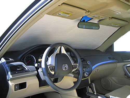 The Original Windshield Sun Shade, Custom-Fit for Honda Accord Coupe 2008, 2009, 2010, 2011, 2012, Silver Series