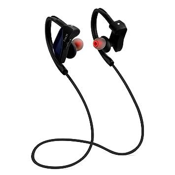 Auriculares Inalambricos Bluetooth Deportivos 4.1 STRIR con Micrófono y Cancelación de Ruido y Impermeables IPX7 para