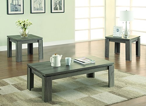 3-piece Occasional Table Set Weathered Grey