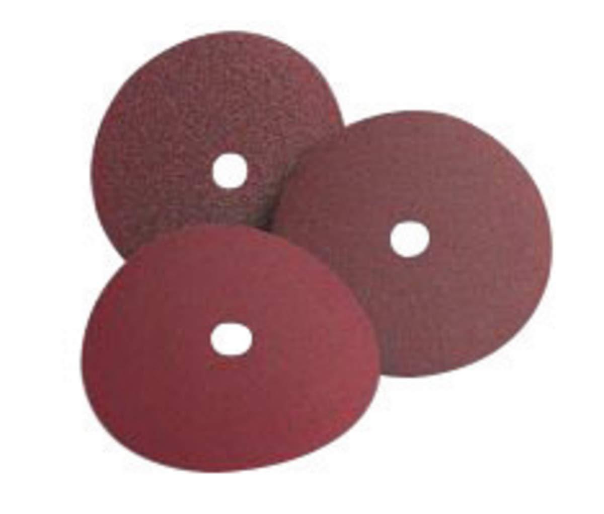 Standard Abrasives 4 1/2'' 24 Grit Aluminum Oxide EZ Quick Change Resin Bond Fiber Disc, Package Size: 25 Each