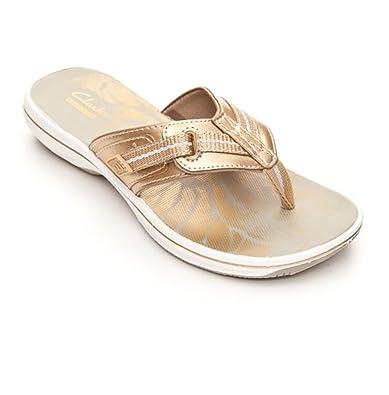 b65faa998706f9 Clarks Women s Brinkley Jazz Hanging Flip Flop Sandal (11 B(M) US ...