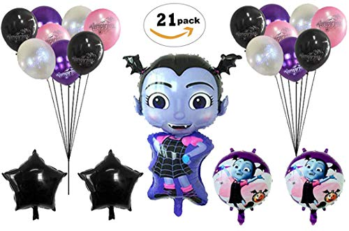 Vampirina Balloons Birthday Party Supplies [21 Balloons and 2 String ] | Disney Party Supply Decorations | Perfect Birthday -