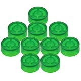 Mxfans 10PCS Green Plastic Protection Cap for Electric Guitar Effect Pedal Knob