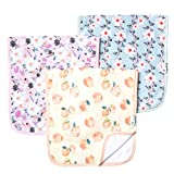 "Baby Burp Cloth Large Absorbent 3 Pack Gift Set Girl ""Morgan"" by Copper Pearl …"