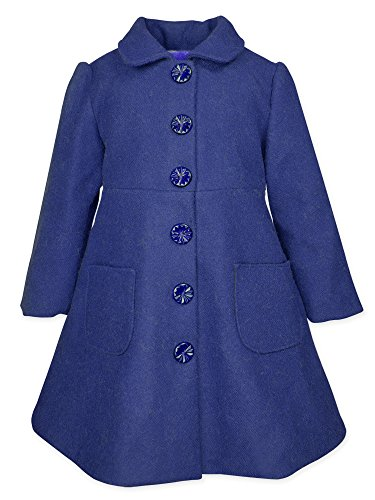 Widgeon Toddler Girls' Bow Back Faux Cashmere Button Coat 3733, Fawn/Navy, (Dress Coats For Toddlers)