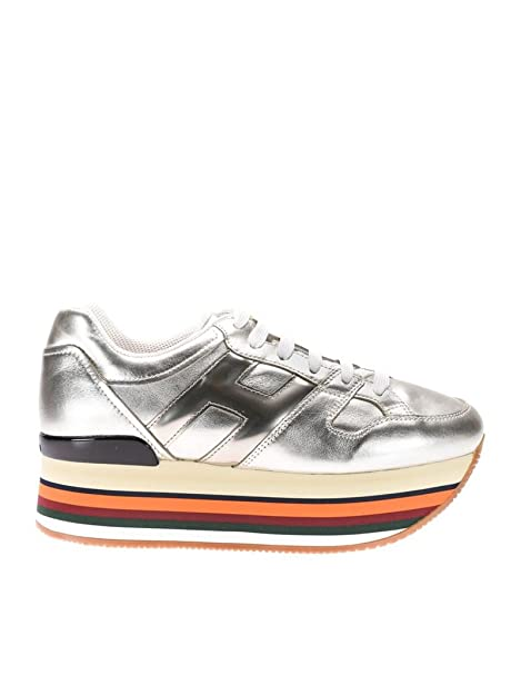 Hogan Sneakers Donna Hxw2830t543dw7661c Pelle Argento Oro  Amazon.it  Scarpe  e borse 5594c969fc4