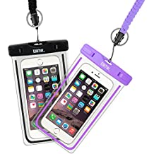 """EOTW 2 Pack IPX8 Universal Waterproof Case for Smartphone Device to 6"""" Fit iPhone X/8/8plus 7plus/6plus Samsung Galaxy s8/s8plus/s7 Google Pixel HTC10,for Water Parks/Beach/Cruise/Pools snorkeling"""