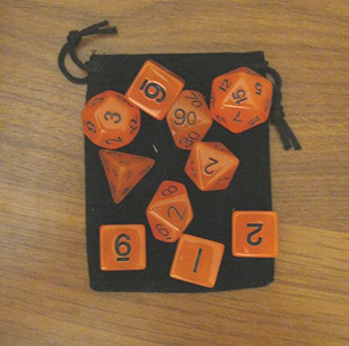 GLOW ORANGE Dice polyhedral Daves product image